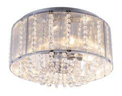 Plafonska lampa hrom, 4XE14
