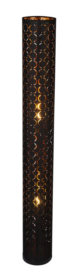 Podna lampa metal crna, 2XE27