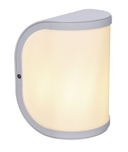 Spoljna lampa aluminijum bela, 1XE27