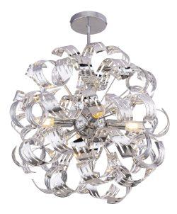PLAFONSKA LAMPA, HROM, 4XE14