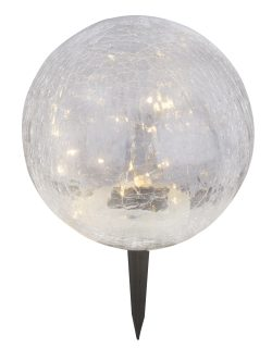 SOLARNA LAMPA, PLASTIKA CRNE BOJE, 20XLED