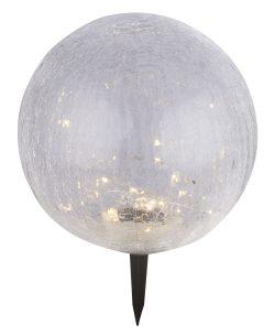 SOLARNA LAMPA, PLASTIKA CRNE BOJE, 30XLED