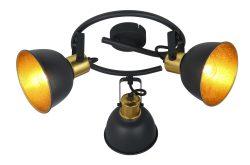 SPOT LAMPA METAL CRNA, 3XE14